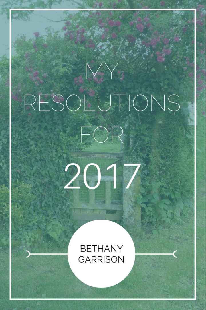 My Resolutions for 2017
