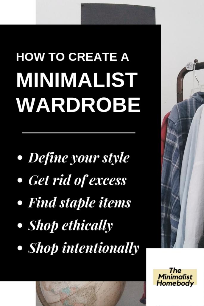 How to Create a Minimalist Wardrobe Graphic